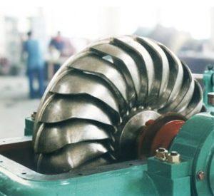 Turgo Turbine Runner in Installation