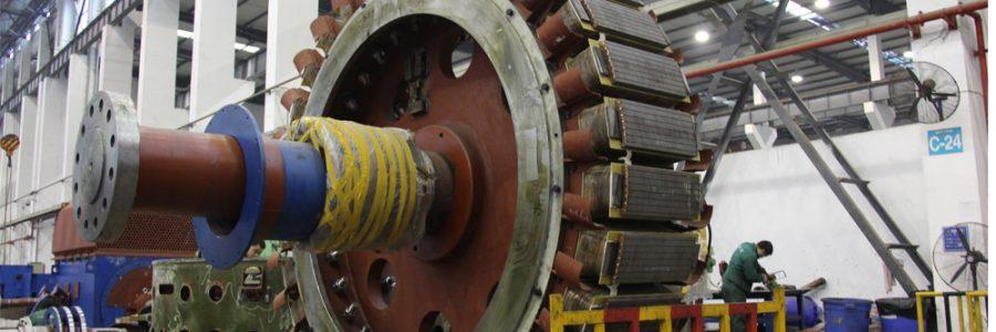 Hình ảnh sản xuất tuabin và máy phát chpe